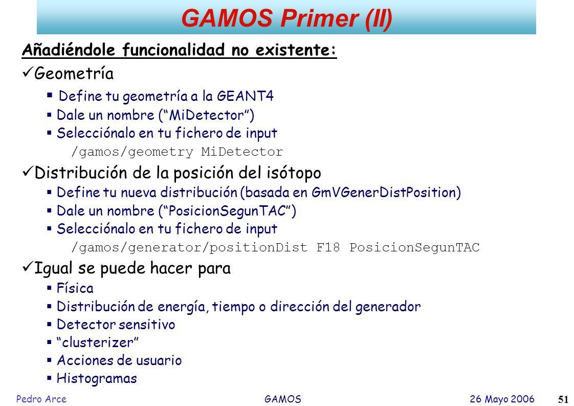 GAMOS Primer (II) Añadiéndole funcionalidad no existente: Geometría