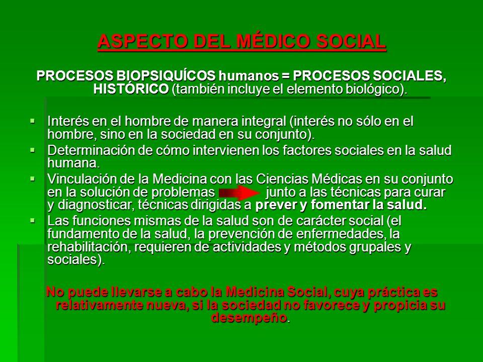 ASPECTO DEL MÉDICO SOCIAL