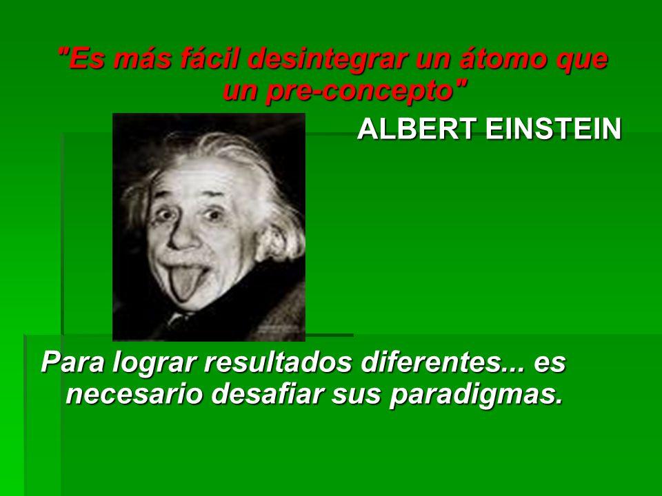 Es más fácil desintegrar un átomo que un pre-concepto