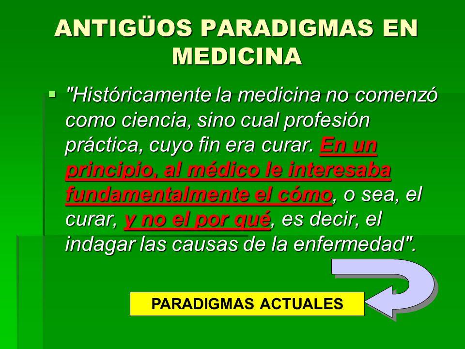 ANTIGÜOS PARADIGMAS EN MEDICINA