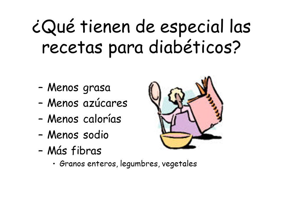 ¿Qué tienen de especial las recetas para diabéticos