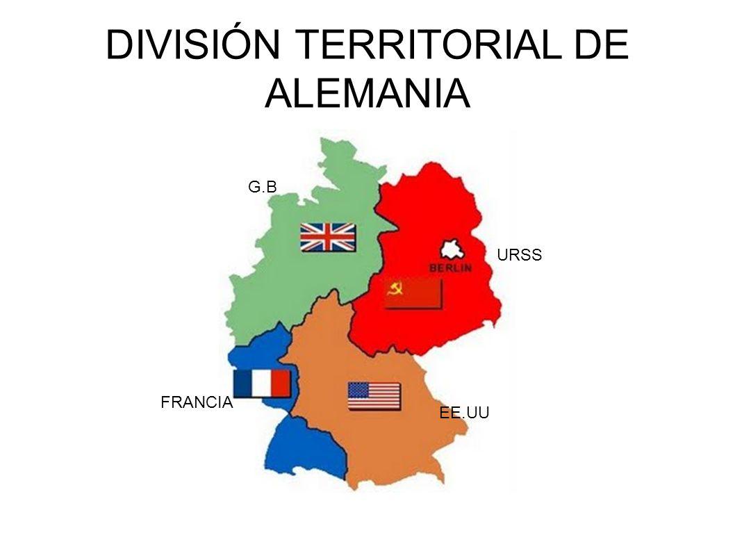 DIVISIÓN TERRITORIAL DE ALEMANIA