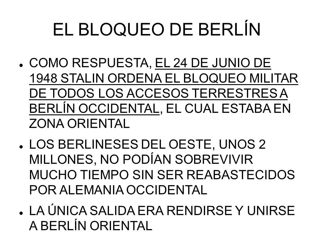 EL BLOQUEO DE BERLÍN