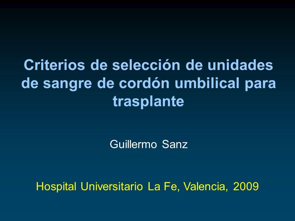 Hospital Universitario La Fe, Valencia, 2009