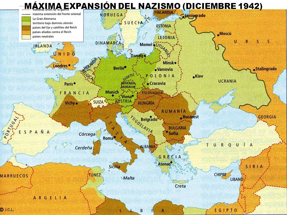 MÁXIMA EXPANSIÓN DEL NAZISMO (DICIEMBRE 1942)