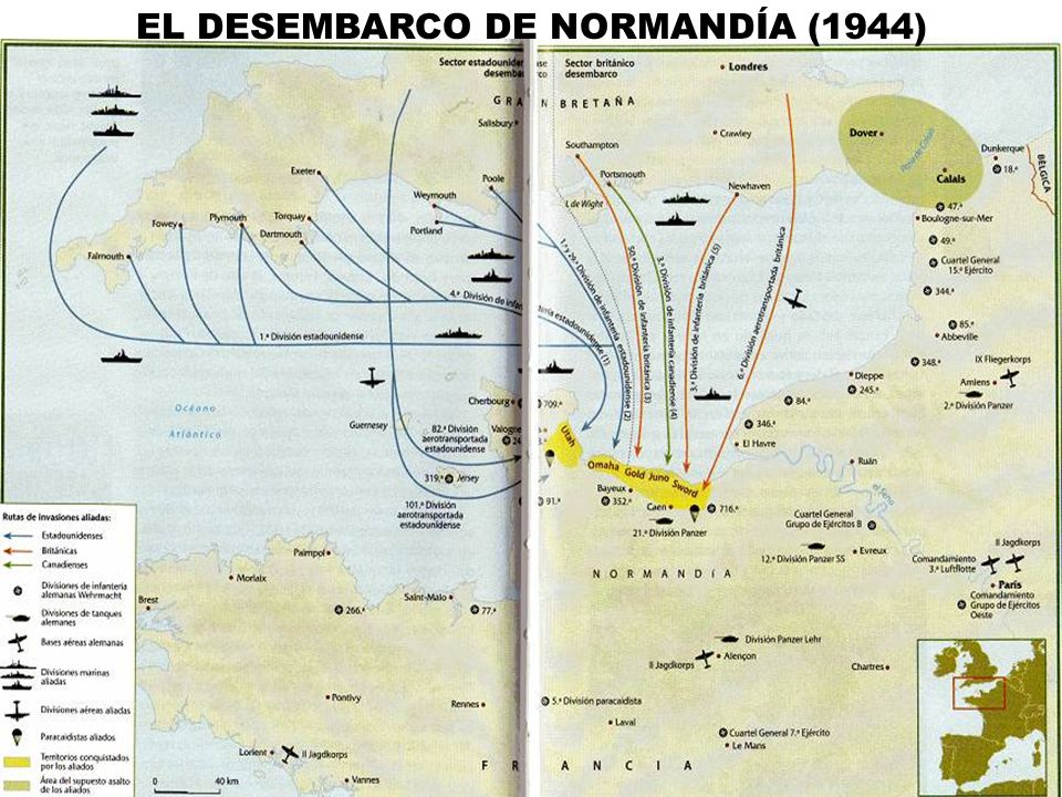 EL DESEMBARCO DE NORMANDÍA (1944)