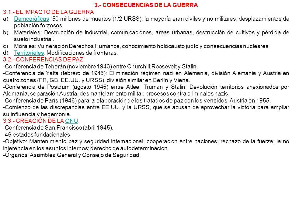 3.- CONSECUENCIAS DE LA GUERRA