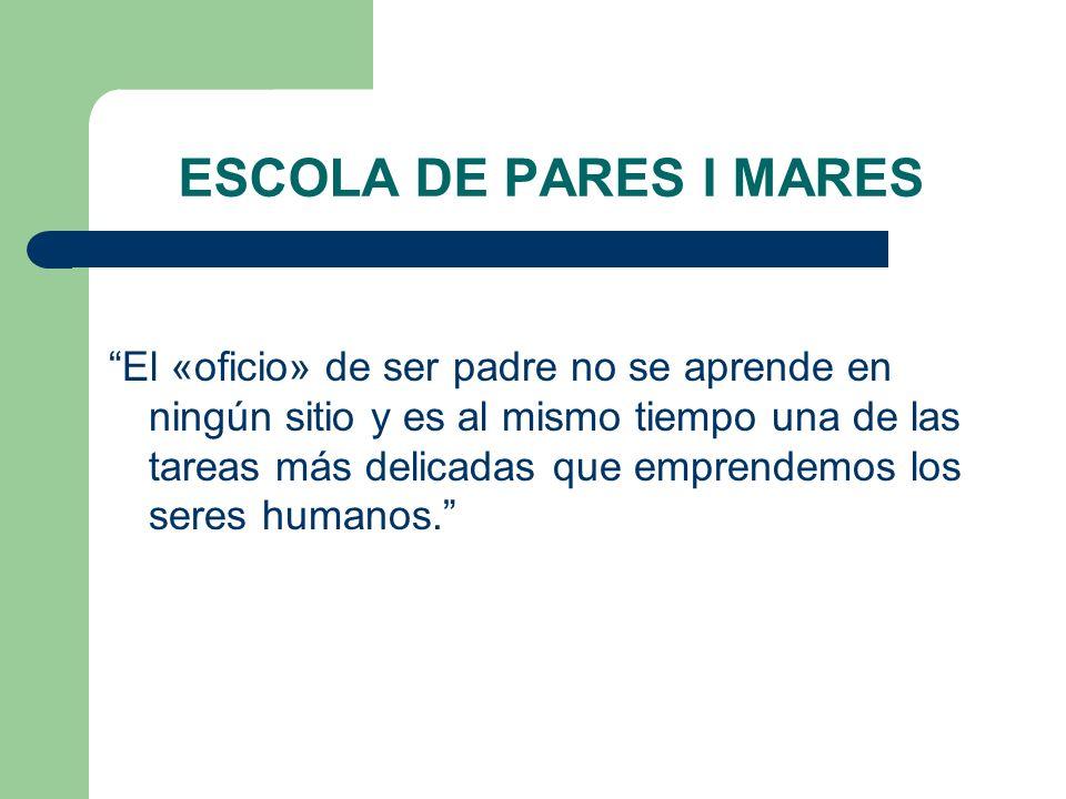 ESCOLA DE PARES I MARES