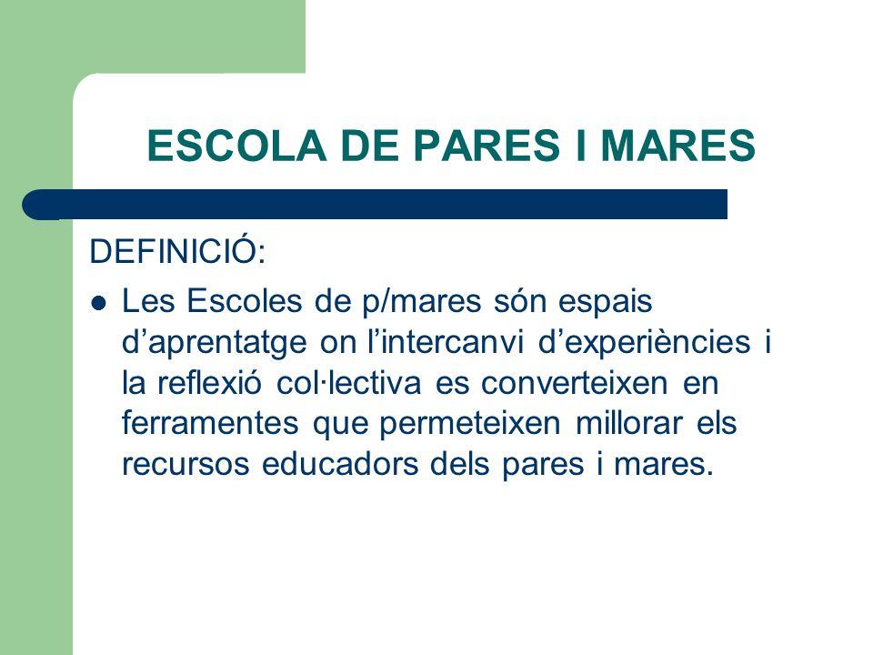 ESCOLA DE PARES I MARES DEFINICIÓ: