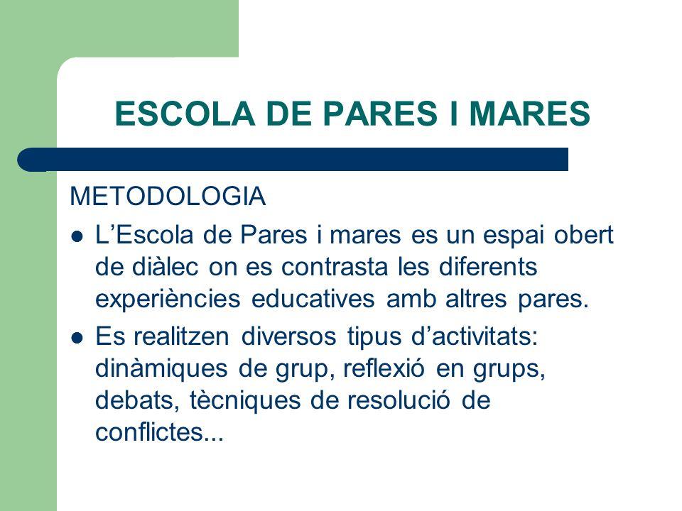 ESCOLA DE PARES I MARES METODOLOGIA