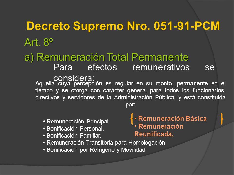 Decreto Supremo Nro. 051-91-PCM