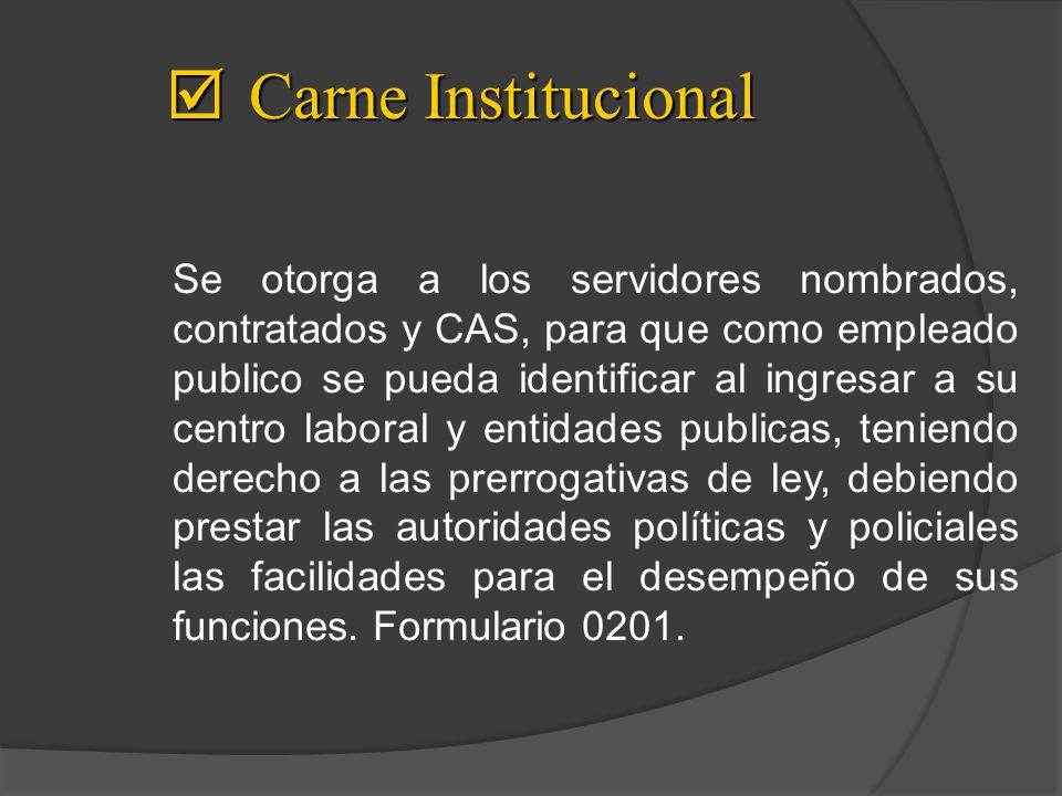 Carne Institucional