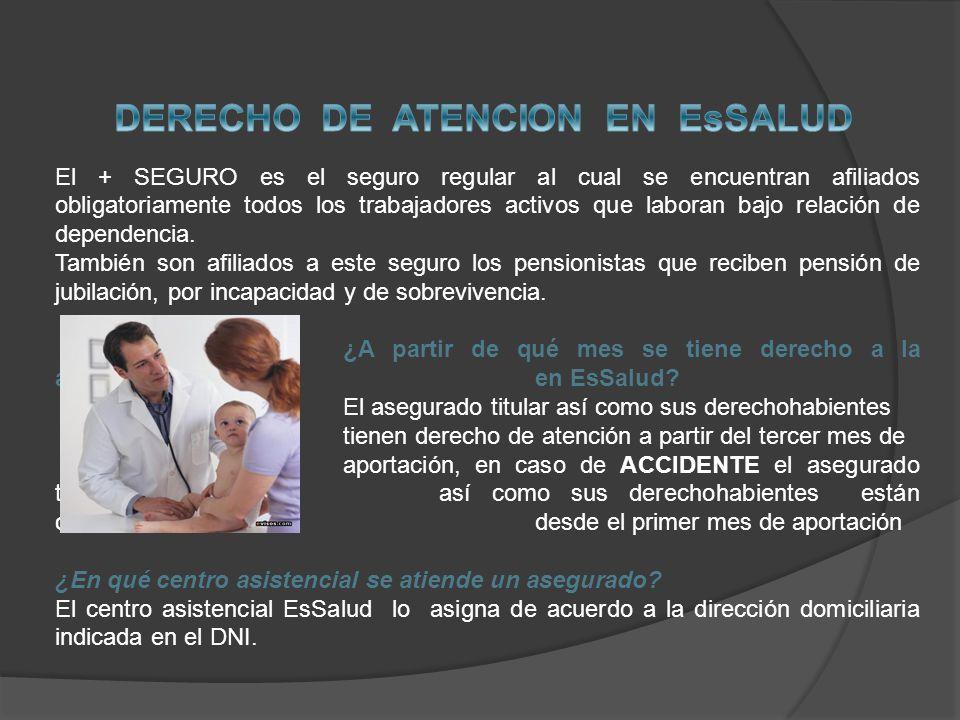 DERECHO DE ATENCION EN EsSALUD