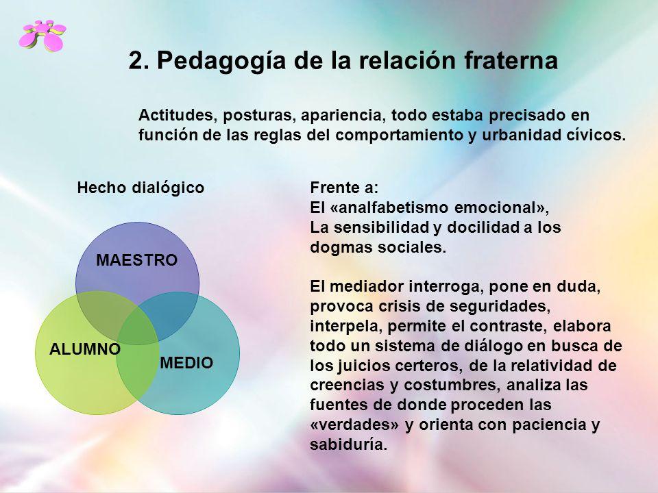 2. Pedagogía de la relación fraterna