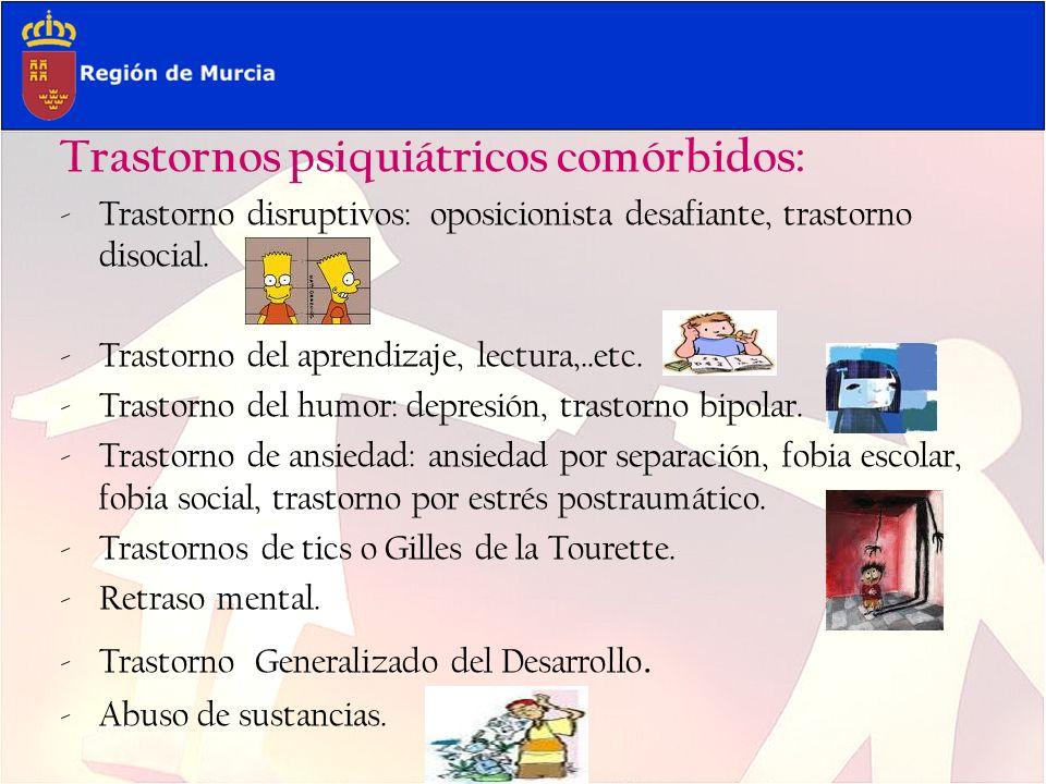 Trastornos psiquiátricos comórbidos: