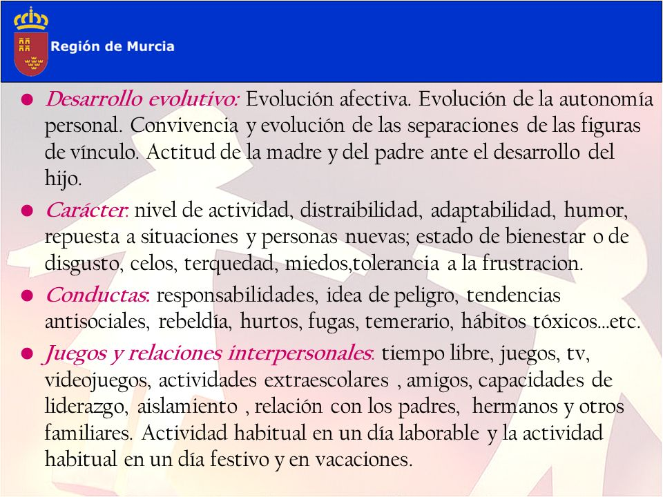 Desarrollo evolutivo: Evolución afectiva