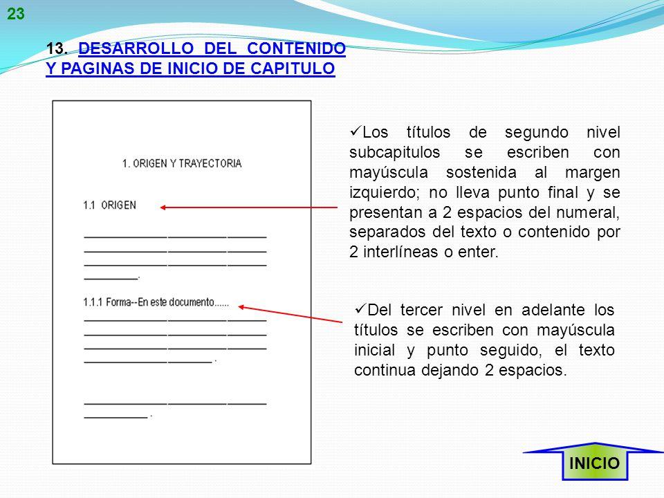 23 13. DESARROLLO DEL CONTENIDO Y PAGINAS DE INICIO DE CAPITULO.