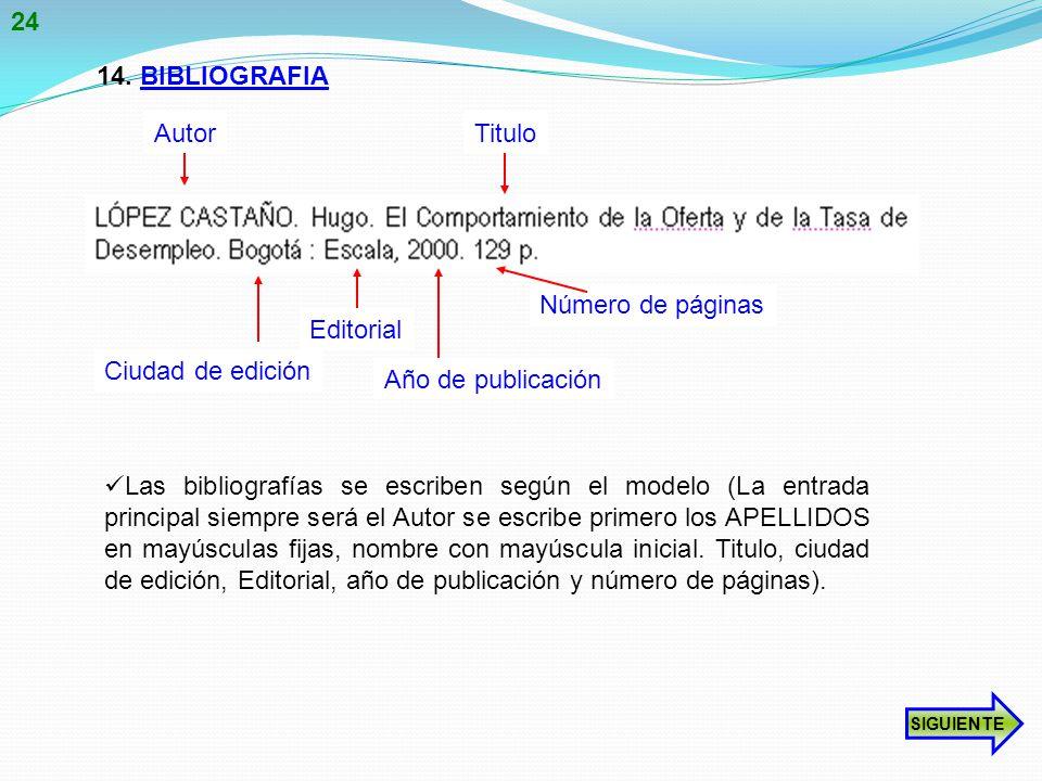 24 14. BIBLIOGRAFIA Autor Titulo Número de páginas Editorial