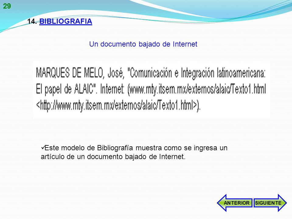 Un documento bajado de Internet