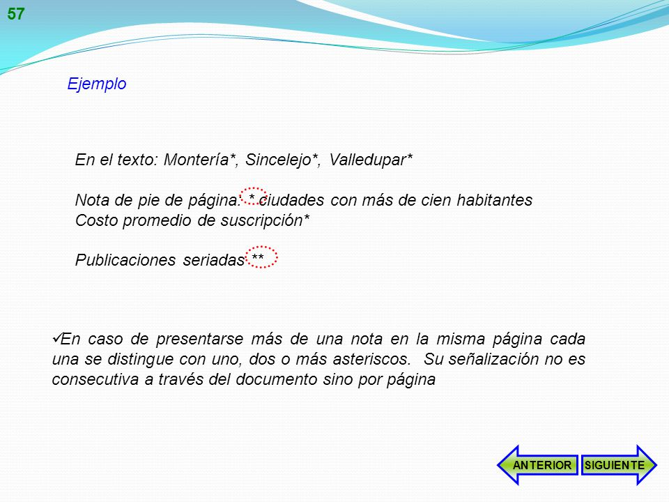 En el texto: Montería*, Sincelejo*, Valledupar*