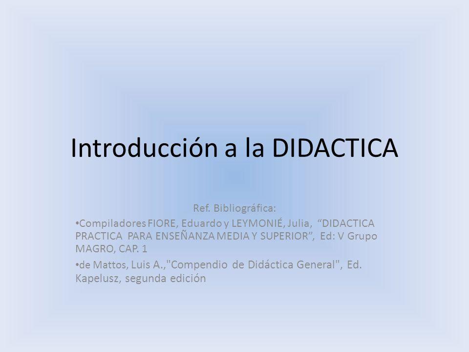 Introducción a la DIDACTICA