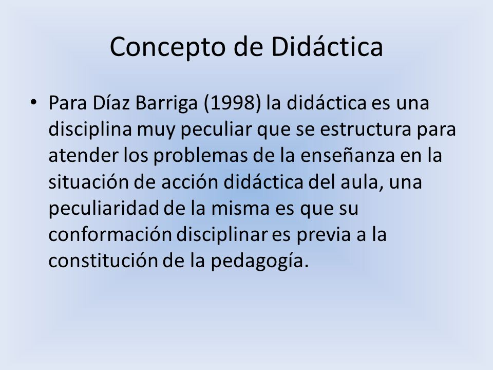 Concepto de Didáctica