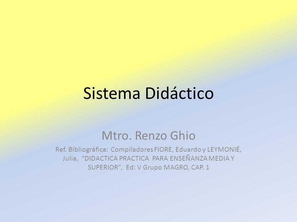 Sistema Didáctico Mtro. Renzo Ghio