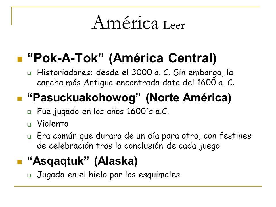 América Leer Pok-A-Tok (América Central)