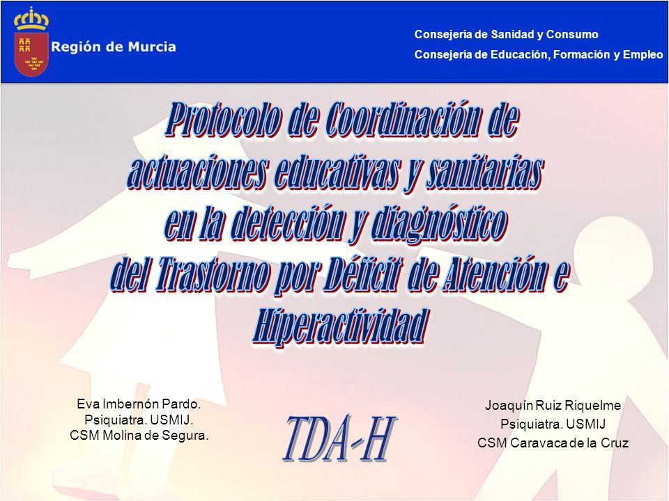 TDA-H Protocolo de Coordinación de actuaciones educativas y sanitarias
