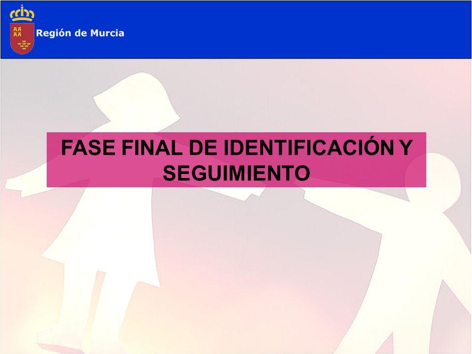 FASE FINAL DE IDENTIFICACIÓN Y SEGUIMIENTO