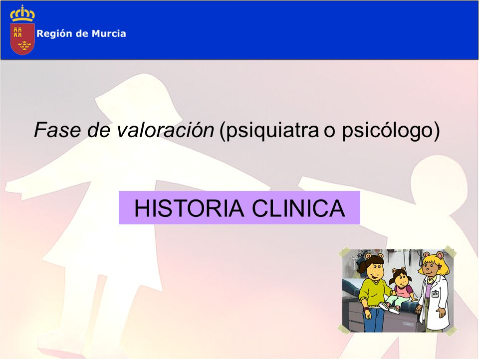 HISTORIA CLINICA Fase de valoración (psiquiatra o psicólogo)