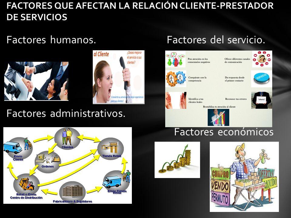 FACTORES QUE AFECTAN LA RELACIÓN CLIENTE-PRESTADOR DE SERVICIOS