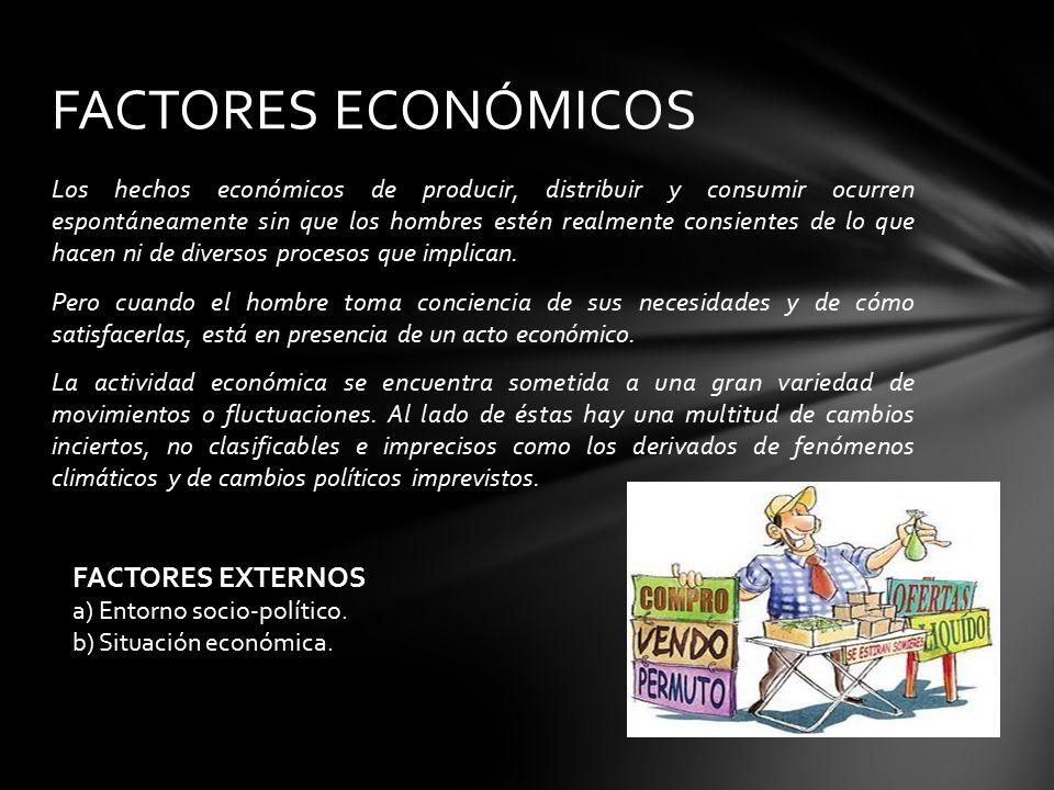 FACTORES ECONÓMICOS FACTORES EXTERNOS