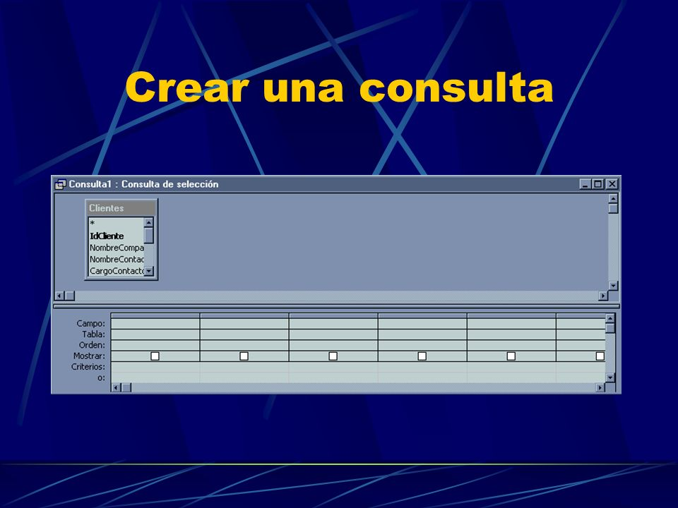 Crear una consulta