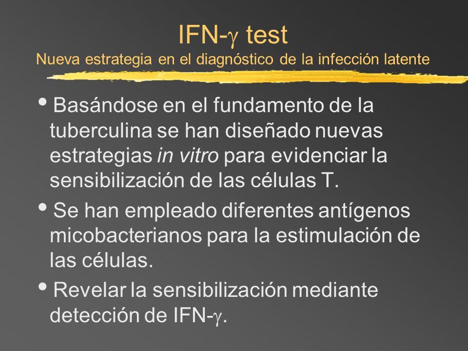 IFN- test Nueva estrategia en el diagnóstico de la infección latente