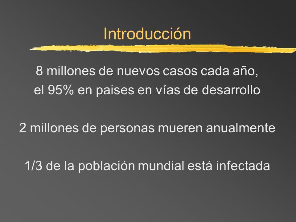 Introducción 8 millones de nuevos casos cada año,