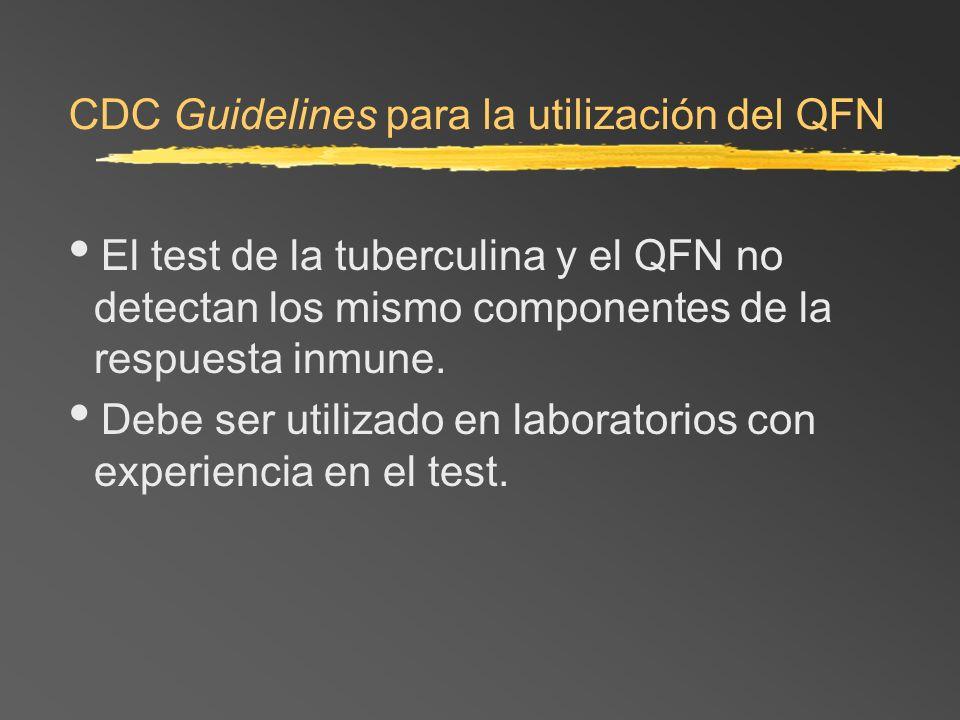 CDC Guidelines para la utilización del QFN