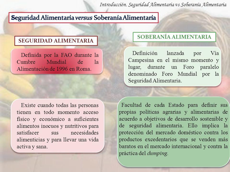 SOBERANÍA ALIMENTARIA SEGURIDAD ALIMENTARIA