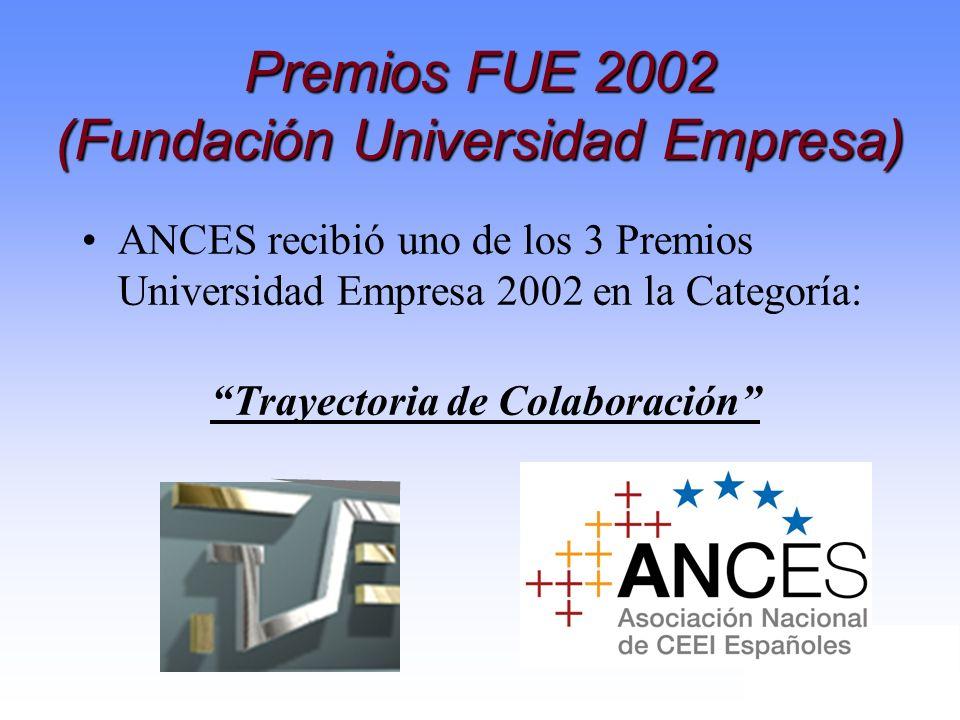 Premios FUE 2002 (Fundación Universidad Empresa)