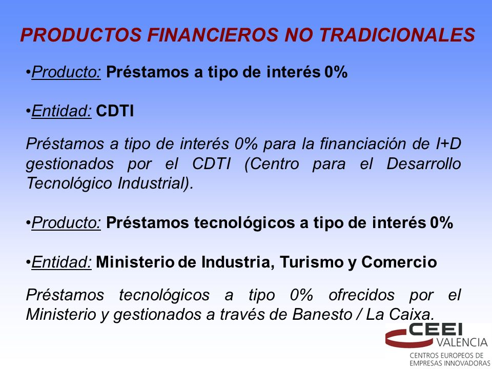 PRODUCTOS FINANCIEROS NO TRADICIONALES