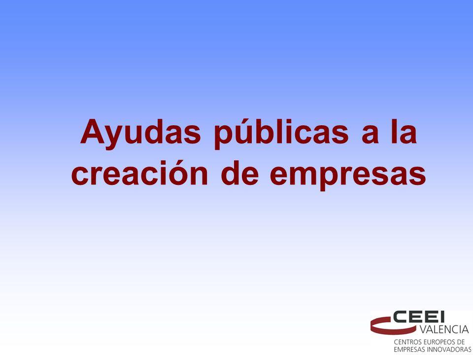 Ayudas públicas a la creación de empresas