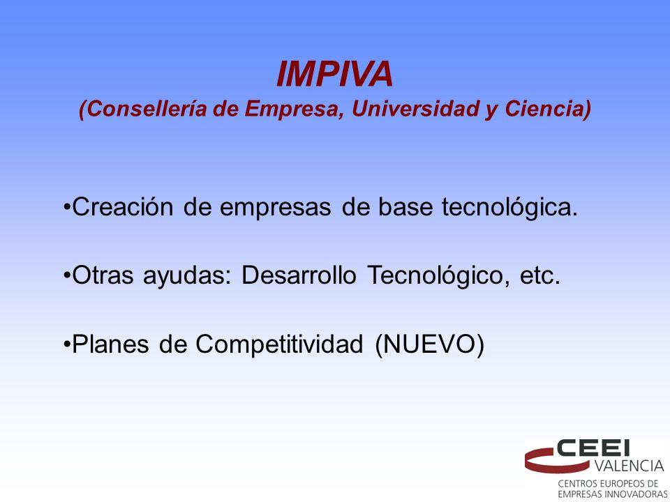 (Consellería de Empresa, Universidad y Ciencia)