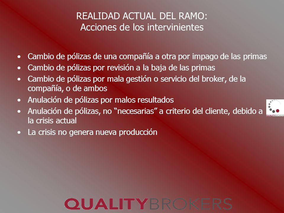 REALIDAD ACTUAL DEL RAMO: Acciones de los intervinientes