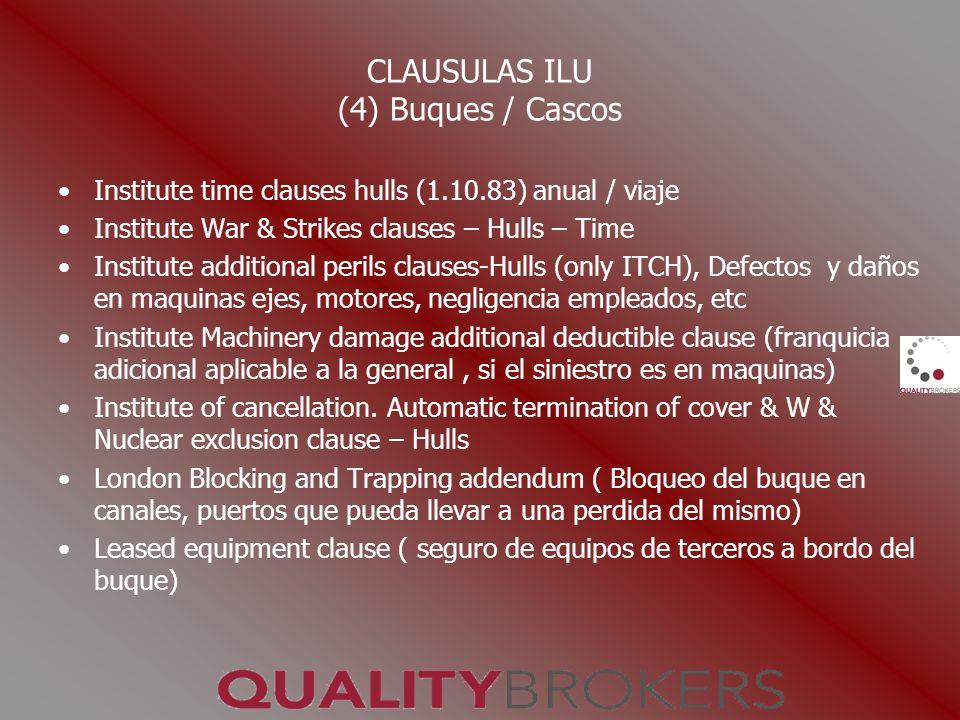 CLAUSULAS ILU (4) Buques / Cascos