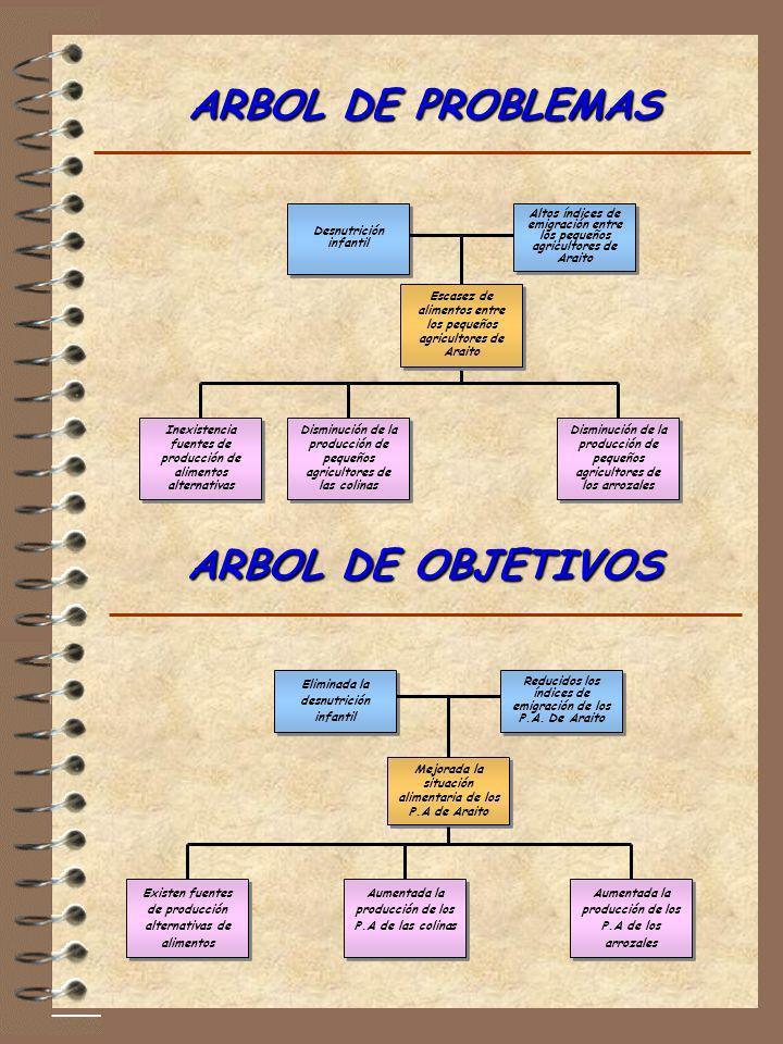 ARBOL DE PROBLEMAS ARBOL DE OBJETIVOS
