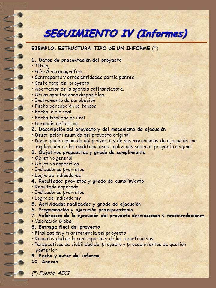SEGUIMIENTO IV (Informes)
