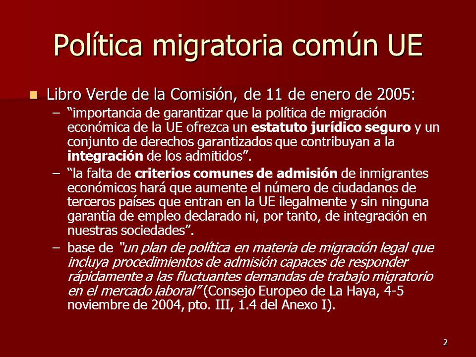 Política migratoria común UE
