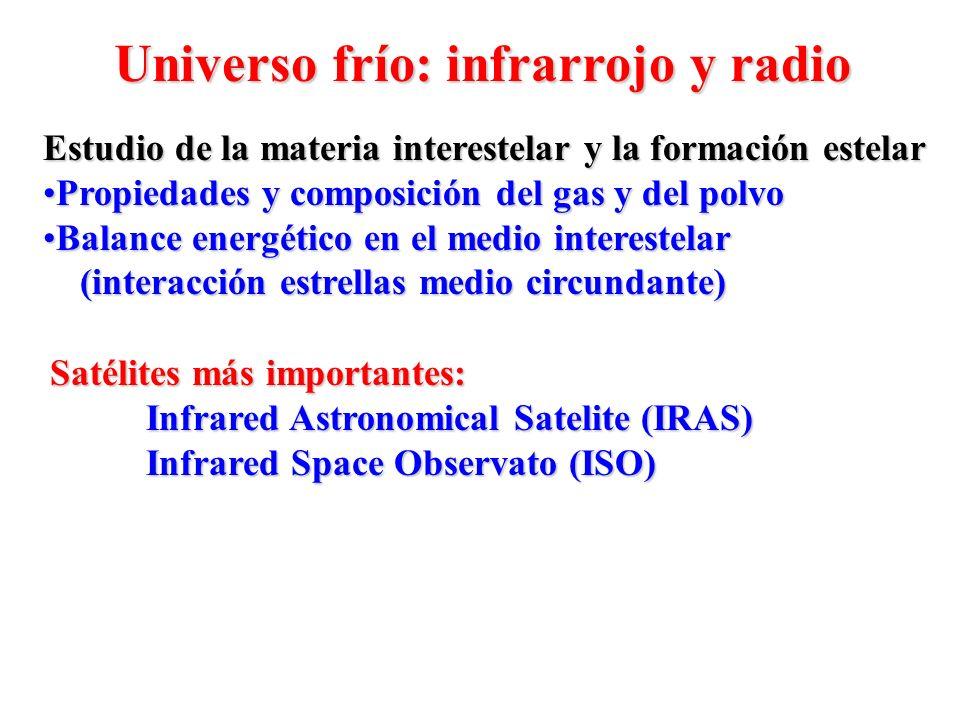Universo frío: infrarrojo y radio