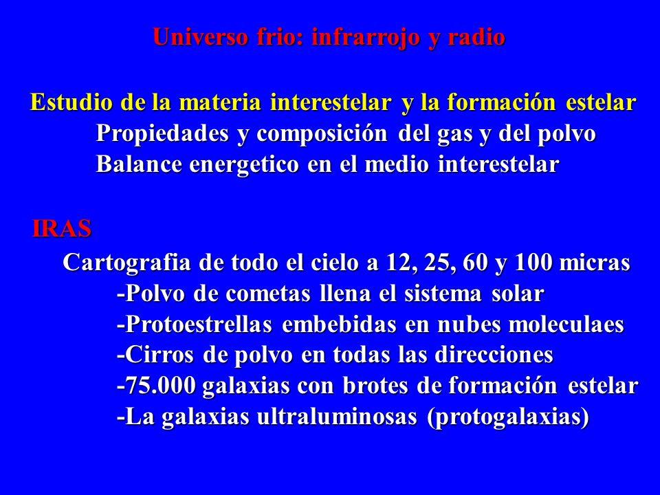 Universo frio: infrarrojo y radio