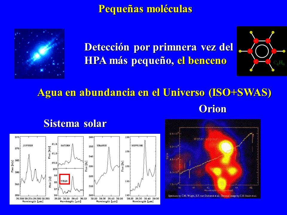 Agua en abundancia en el Universo (ISO+SWAS)